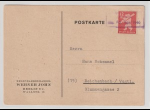 Notstempel Hohenneuendorf auf Bärenbrief