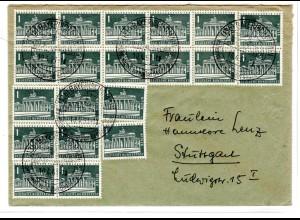 Fern-Brief mit Me.F. Mi.-Nr 140 W/140W