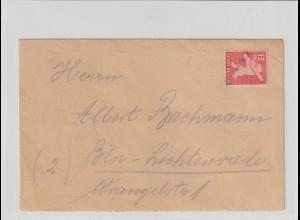 Notstempel Strausberg 2 auf Bären-Bedarfsbrief
