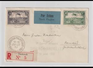 Luxemburg: Luftpost-Einschreib-Brief 1933