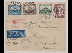 Belgien: Luftpost-Satzbrief 1932