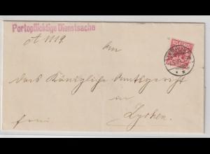 Dt. Reich: Krone/Adler 10 Pfg. in Farbe db; geprüft