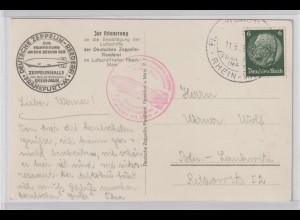 """Zeppelin """"Zur Erinnerung an den Besuch der Zepp.-Reederei"""""""