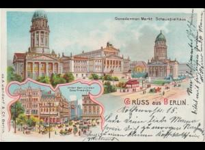 Berlin / Litho Gendarmenmarkt, Schauspielhaus