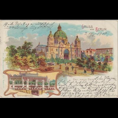Berlin / Litho Der neue Dom