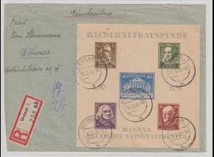 Thüringen Theaterblock 3B auf R-Brief