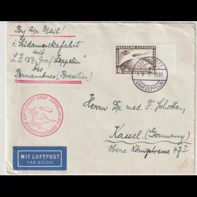 Zeppelin-Brief Südamerikafahrt 1932 bis Pernambuco