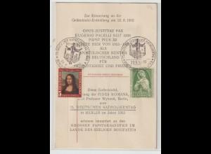 Ereigniskarte zur Erinnerung an die Gedenktafel-Enthüllung ... 1952