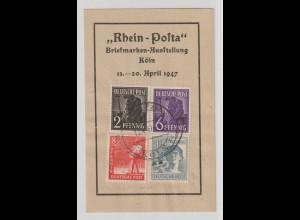 """Frankiertes Souvenir von der """"Rhein-Posta"""" Köln 1947"""