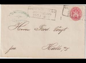 Preußen: Brief mit Nr. 16; besserer Stempel, Magdeburg nach Carlsbad