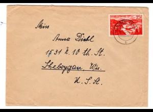 Auslandbrief mit EF. Mi.-Nr. 252