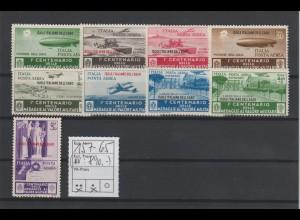 Ägäische Inseln: Flugpostmarken Tapferkeitsmedaille, sauber entfalzt