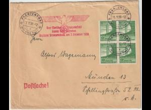 """Sudetenland: Postsache mit Prop.-stempel """"Franzensbad dankt..."""""""