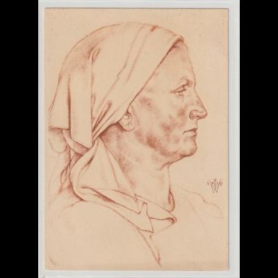 Willrich-Karte: Förstersfrau aus dem Buchenland