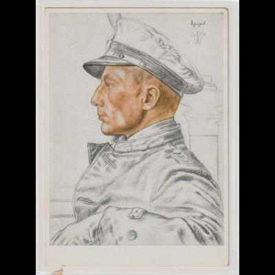Willrich-Karte: Kapitänleutnant Schubart (U-Boot)