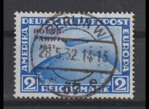 """DR; Polarfahrt 2 Mark auf Briefstück; Befund """"echt und einwandfrei"""""""