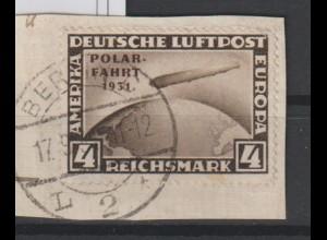 DR; Polarfahrt 4 Mark auf Briefstück; Befund