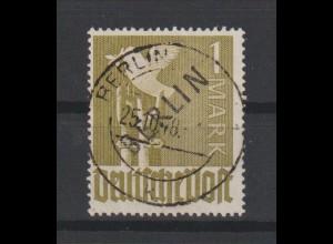 """Berlin Schwarzaufdruck 1 Mark in a-Farbe, gest, """"echt und einwandfrei"""""""