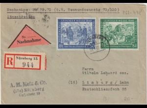 All. Bes.: Einschreib/Nachnahme mit Leipziger Messe-Frankatur