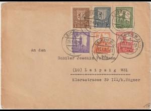 Westsachsen Abschiedsserie o.Wz. als Satzbrief, gepr.