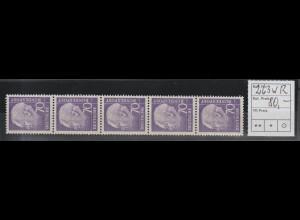 Heuß (II) 70 Pfennig Rollenmarke 5er-Streifen