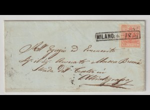 Lombardei & Venetien: Brief mit 3X, 1852