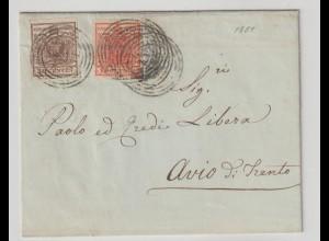 Lombardei & Venetien: Brief mit 3 und 4X, 1851