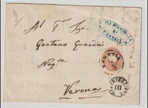 Lombardei & Venetien: Brief mit Nr. 13 von Venedig nach Verona