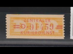 ZKD-Billettstreifen 17 O, original, **
