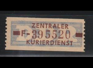 ZKD-Billettstreifen 20 F, original, **