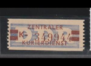 ZKD-Billettstreifen 21 K, Nachdruck, **