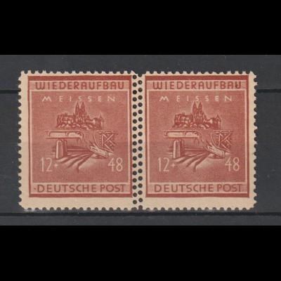 Meißen Wiederaufbau Paar der Nr. 38 mit doppelter Zähngs-reihe, ** (MNH)