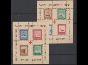 Oldenburg Block I und II gezähnt. ** (MNH)