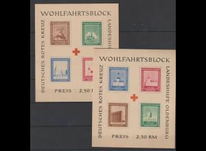 Oldenburg Block I und II ungezähnt. ** (MNH)