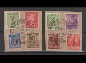 Storkow 1 - 8, gestempelt auf Unterlage