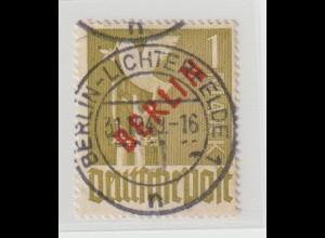 Berlin 1 Mark Rotaufdruck, zentrisch gestempelt, tiefstgeprüft Schlegel