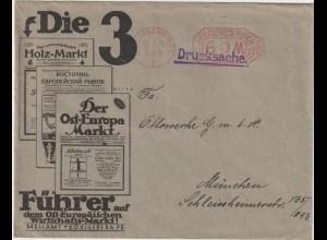 """Infla-Reklameumschlag: """"Die 3 führenden Osteuropa-Zeitschriften"""""""
