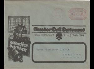 "Infla-Reklameumschlag: ""Stauffer-Buchsen"""