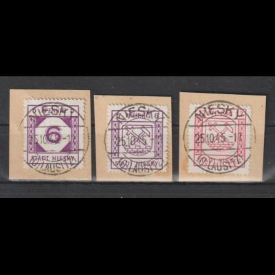 Niesky, 16-18 auf Briefstücken, gepr. Kunz BPP,