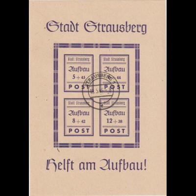 Strausberg Block 1, gestempelt