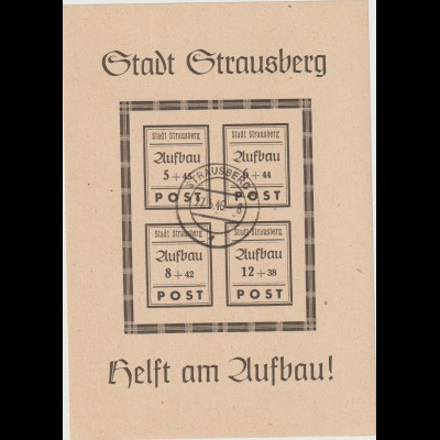 Strausberg Block 2, gestempelt