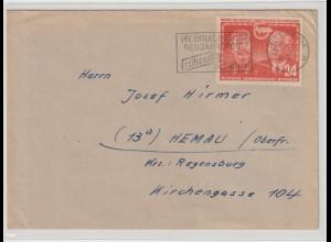 DDR: Fernbrief mit EF Stalin/Pieck