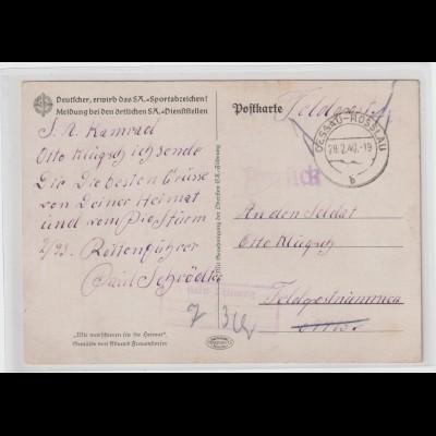 "Feldpostkarte ""Zurück/Kein Leitweg""; Propagandakarte"