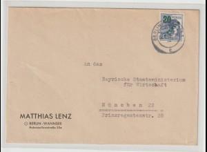 Berlin Fernbrief mit EF 20 Pfg. Grünaufdruck