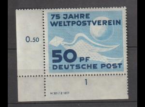 DDR-Druckvermerke: 75 Jahre UPU (DV)