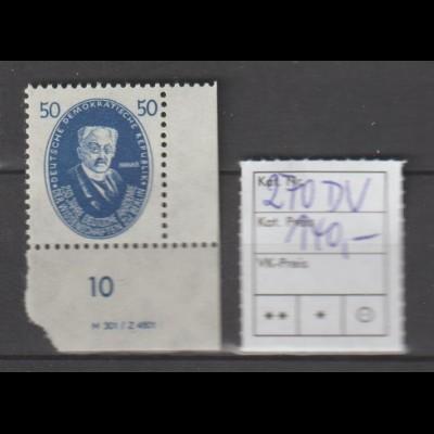 DDR-Druckvermerke: Aus dem Akademiesatz 1950 50 Pfg. (Harnack) mit DV