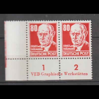 DDR-Druckvermerke: Köpfe II / Roter Thälmann mit DZ