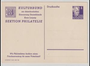 DDR Privatganzsache PP1, ungebraucht