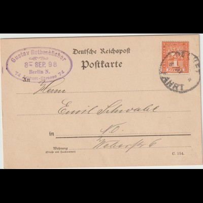 Privatpost Berlin Packet-Fahrt; sauber frankierte Karte