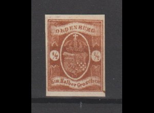 Oldenburg Nr. 11 - Sperati-Fälschung - Kurzbefund Berger